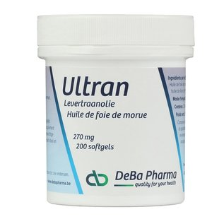 DEBA PHARMA HEALTH PRODUCTS ULTRAN HUILE DE FOIE DE MORUE (200 SOFTGELS)
