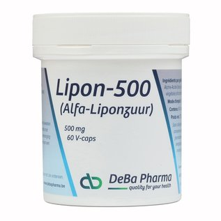 DEBA PHARMA HEALTH PRODUCTS LIPON 500 (60 V-CAPS)