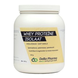 DEBA PHARMA HEALTH PRODUCTS WHEY PROTEINE ISOLAAT VANILLE (900 G)