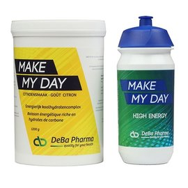 DEBA PHARMA HEALTH PRODUCTS MAKE MY DAY CITROEN KOOLHYDRATENCOMPLEX (1 200 G) + TACX DRINKBUS