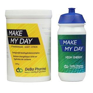 DEBA PHARMA HEALTH PRODUCTS MAKE MY DAY CITROEN KOOLHYDRATENCOMPLEX (1 200 G) + TACX DRINKBUS