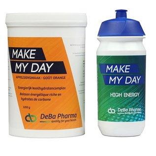DEBA PHARMA HEALTH PRODUCTS MAKE MY DAY ORANGE COMPLEXE GLUCIDIQUE (1 200 G) + BIDON TACX
