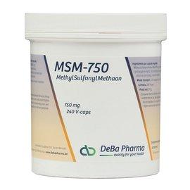 DEBA PHARMA HEALTH PRODUCTS MSM 750 (240 V-CAPS)
