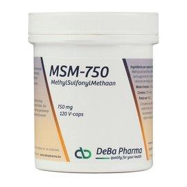 DEBA PHARMA HEALTH PRODUCTS MSM 750 (120 V-CAPS)