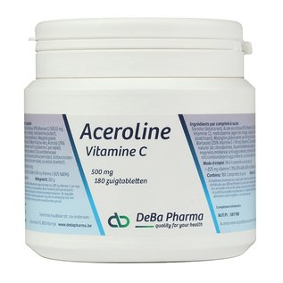 DEBA PHARMA HEALTH PRODUCTS ACEROLINE 500 VITAMINE C (180 ZUIGTABLETTEN)