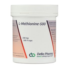 DEBA PHARMA L-METHIONINE 500 (100 V-CAPS)