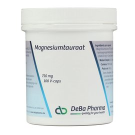 DEBA PHARMA HEALTH PRODUCTS MAGNESIUMTAURAAT (100 V-CAPS)