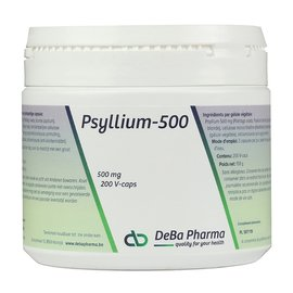 DEBA PHARMA HEALTH PRODUCTS PSYLLIUM 500 (200 V-CAPS)