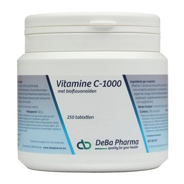 DEBA PHARMA HEALTH PRODUCTS VITAMINE C 1000 met BIOFLAVONOIDEN (250 TABLETTEN)