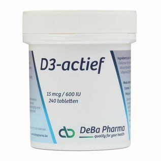 DEBA PHARMA HEALTH PRODUCTS VITAMINE D3 ACTIEF (240 TABLETTEN)