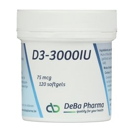 DEBA PHARMA VITAMINE D3 3000 IU (120 SOFTGELS)