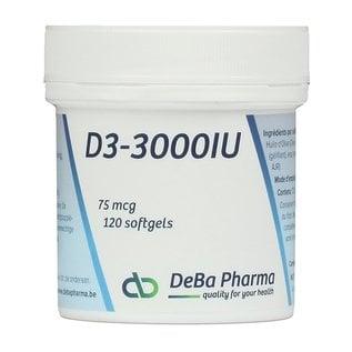 DEBA PHARMA HEALTH PRODUCTS VITAMINE D3 3000 IU (120 SOFTGELS)