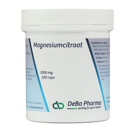 DEBA PHARMA HEALTH PRODUCTS MAGNESIUMCITRAAT (100 CAPS)