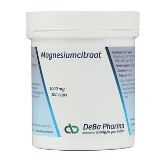 DEBA PHARMA HEALTH PRODUCTS MAGNESIUMCITRAAT (100 CAPS)