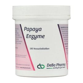 DEBA PHARMA HEALTH PRODUCTS PAPAYA ENZYME (180 KAUWTABLETTEN)