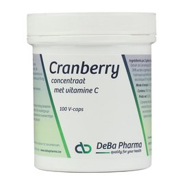 DEBA PHARMA HEALTH PRODUCTS CRANBERRY + VITAMINE C (100 V-CAPS)