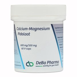 DEBA PHARMA HEALTH PRODUCTS CALCIUM-MAGNESIUMPIDOLAAT 600/100 (60 V-CAPS)