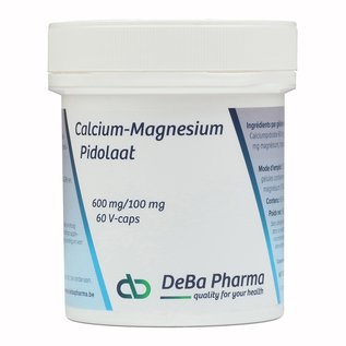 DEBA PHARMA HEALTH PRODUCTS CALCIUM-MAGNESIUMPIDOLAAT 600/100 (60 V-CAPS)