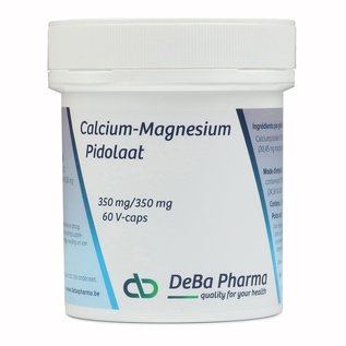 DEBA PHARMA HEALTH PRODUCTS CALCIUM-MAGNESIUMPIDOLAAT 350/350 (60 V-CAPS)
