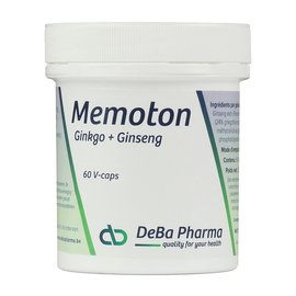 DEBA PHARMA HEALTH PRODUCTS MEMOTON GINKGO en GINSENG (60 V-CAPS)