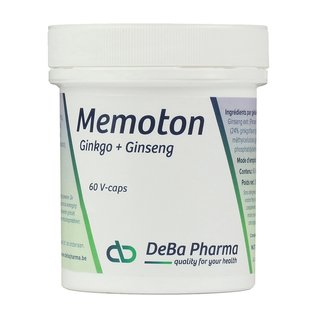 DEBA PHARMA HEALTH PRODUCTS MEMOTON GINKGO en GINSENG (60 V-CAPS)