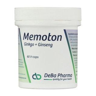 DEBA PHARMA HEALTH PRODUCTS MEMOTON GINKGO et GINSENG (60 V-CAPS)