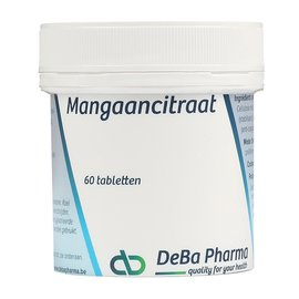 DEBA PHARMA HEALTH PRODUCTS CITRATE DE MANGANÈSE (60 COMPRIMÉS)
