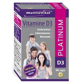 MANNAVITAL NATURAL PRODUCTS VITAMINE D3 PLATINUM PEARLS (90 CAPS)