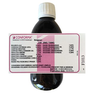 CONFORMA CHINESE HERBAL FORMULAS JUE JING TANG HC (250 ML)