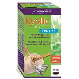 MANNAVITAL NATURAL PRODUCTS KYOLIC AIL EPA + K2 (80 CAPS)