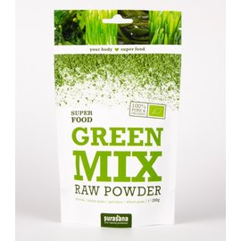 PURASANA NATURAL PROTECTION GREEN MIX RAW POWDER SUPER FOOD (200 G)