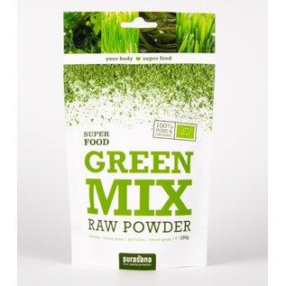 PURASANA NATURAL PROTECTION GREEN MIX RAW POWDER SUPER FOOD (200 G)