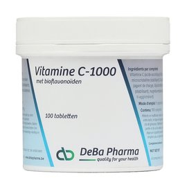 DEBA PHARMA HEALTH PRODUCTS VITAMINE C 1000 met BIOFLAVONOIDEN (100 TABLETTEN)