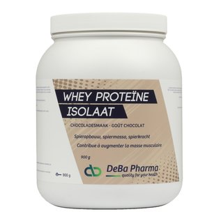 DEBA PHARMA HEALTH PRODUCTS WHEY PROTEINE ISOLAAT CHOCOLADE (900 G)