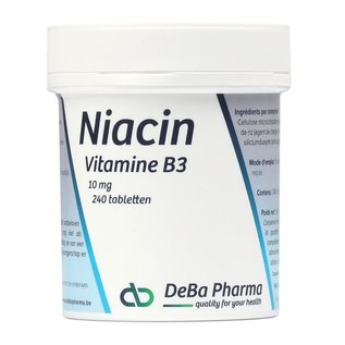 DEBA PHARMA HEALTH PRODUCTS NIACIN VITAMINE B3 (240 TABLETTEN)