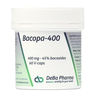 DEBA PHARMA HEALTH PRODUCTS BACOPA 400 - 45 % BACOSIDES (60 V-CAPS)