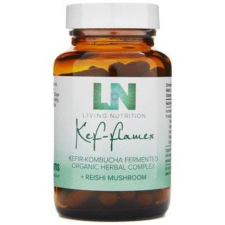 LIVING NUTRITION KEF-FLAMEX – KEFIR-KOMBUCHA GEFERMENTEERDE KRUIDEN + REISHI – BIO (60 CAPS)