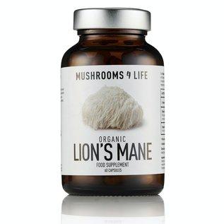 MUSHROOMS 4 LIFE LION'S MANE BIOLOGISCH PADDENSTOELENSUPPLEMENT (60 V-CAPS)