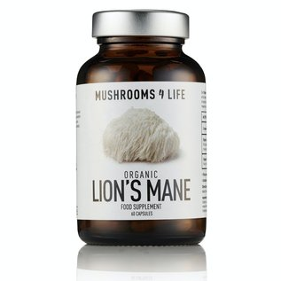 MUSHROOMS 4 LIFE LION'S MANE COMPLÉMENT CHAMPIGNON BIOLOGIQUE  (60 V-CAPS)