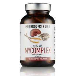 MUSHROOMS 4 LIFE MYCOMPLEX BIOLOGISCH PADDENSTOELENSUPPLEMENT (60 V-CAPS)