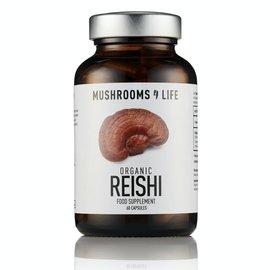 MUSHROOMS 4 LIFE REISHI DUANWOOD BIOLOGISCHE PADDENSTOELEN (60 V-CAPS)