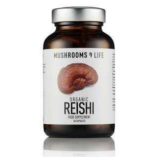 MUSHROOMS 4 LIFE REISHI DUANWOOD COMPLÉMENT CHAMPIGNON BIOLOGIQUE  (60 V-CAPS)