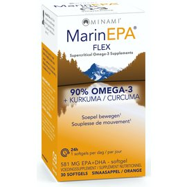 MINAMI NUTRITION OMEGA 3 MINAMI MARINEPA FLEX 90% OMEGA 3 + KURKUMA (30 SOFTGELS)