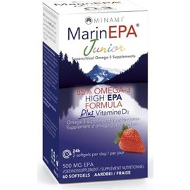 MINAMI NUTRITION OMEGA 3 MINAMI MARINEPA JUNIOR 85% OMÉGA 3 HIGH EPA FORMULA + VITAMINE D3 (60 SOFTGELS)
