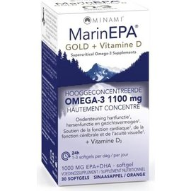 MINAMI NUTRITION OMEGA 3 MINAMI MARINEPA GOLD + VITAMINE D3 - OMÉGA 3 CONCENTRÉ (30 SOFTGELS)