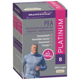 MANNAVITAL NATURAL PRODUCTS PEA PLATINUM  + VIT. B-COMPLEX (60 V-CAPS)