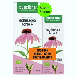 PURASANA NATURAL PROTECTION ECHINACEA FORTE+  DUO PACK - SUPER PROMO (100 ML + 50 ML)