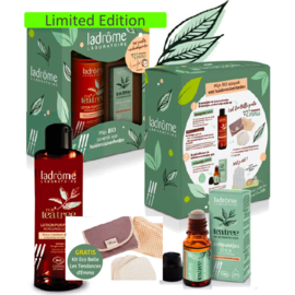 LADRÔME LABORATOIRE KOFFER PUR'TEA TREE REINIGENDE LOTION + ANTI-PUKKELSTICK + SET ECO BELLE