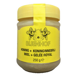 BIJENHOF BEE PRODUCTS HONING + KONINGINNEBRIJ (250 G)