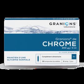 GRANIONS LABORATOIRE GRANIONS DE CHROME - GLYCÉMIE NORMALE (30 AMPOULES X 2 ML)